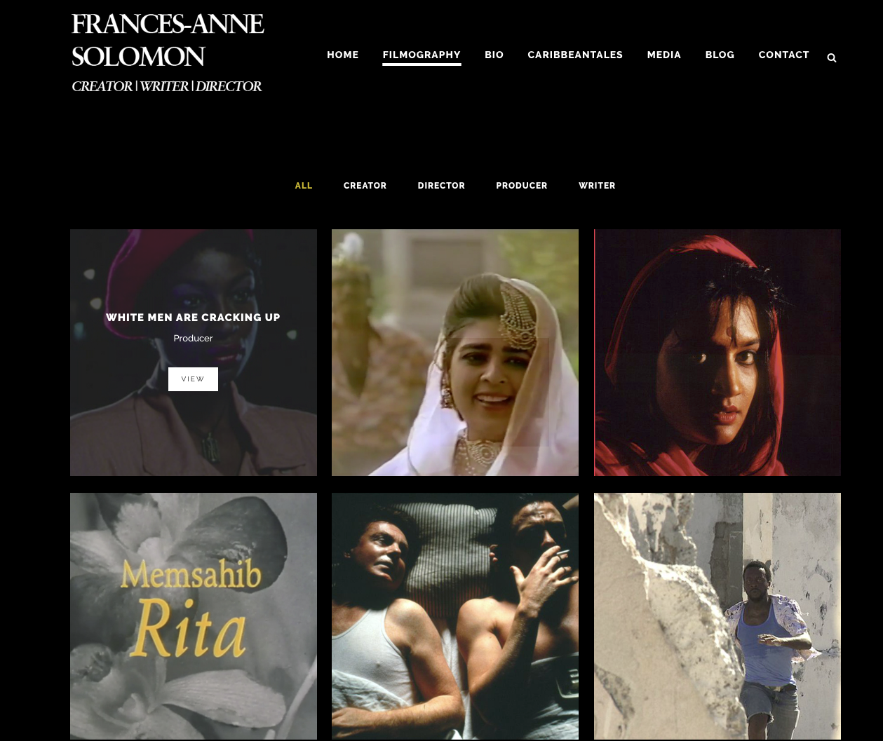 Frances-Anne Solomon Filmography page