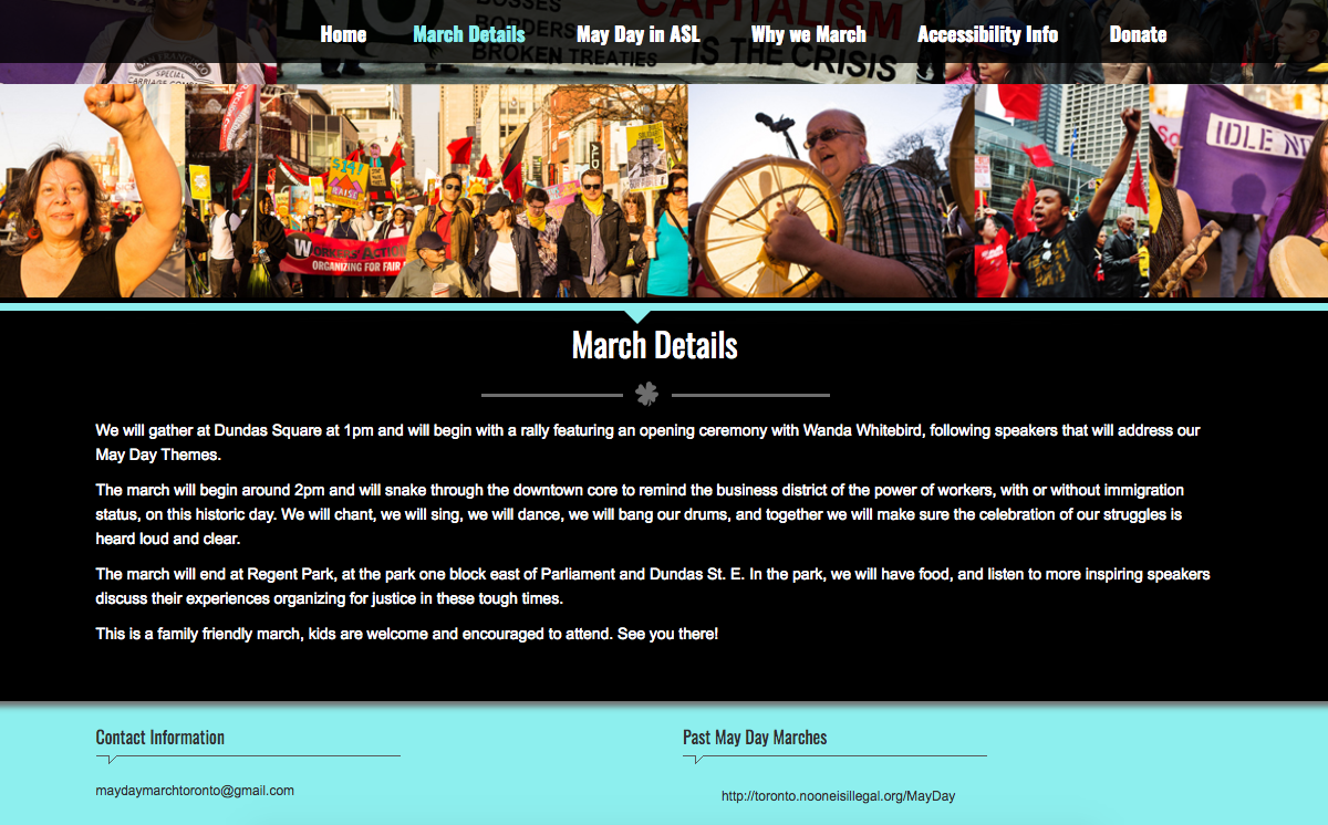 May Day Toronto side page3